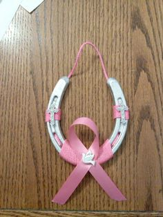 Breast Cancer Awareness Horseshoe. We can make any color. by OurCraftsAndMemories
