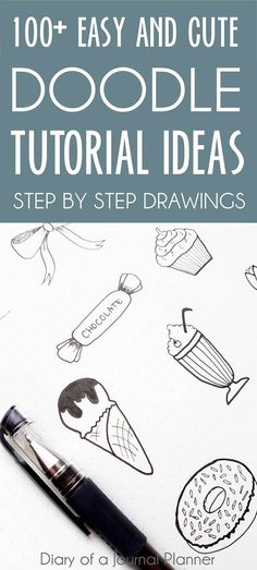 Huge list of bullet journal doodle ideas to get your inspired and practicing doodling and drawing Bullet Journal Doodles, Doodle Art Journals, Bullet Journals, Bullet Journal App, Art Journal Pages, Journal List, Drawing Journal, Easy Drawings For Beginners, Easy Drawings For Kids