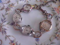 Repurposed Vintage Antique Gold Filled Watch bracelet