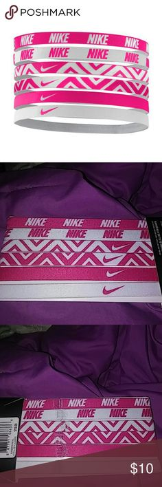 FREE Nwt 6 pack nike head bands with $50 This is a new six pack of Nike headbands pink and white.Free with $50 purchase!!! Nike Accessories