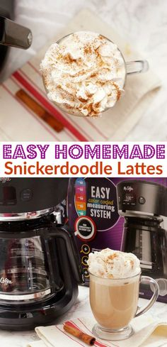 Homemade Snickerdoodle Lattes an easy drink for Holiday Entertaining! Easy Dinner Recipes, Dessert Recipes, Drink Recipes, Easy Recipes, Latte, Best Christmas Cookie Recipe, Delicious Desserts, Yummy Food, Holiday Snacks