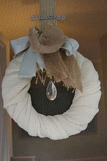 another wreath made from a knit scarf