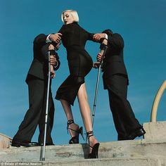 Stunning: This photo was taken by Helmut Newton for American Vogue for the February 1995 i...