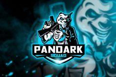 Pandark Squad - Mascot & Esport Logo by aqrstudio on Envato Elements Gfx Design, Team Logo Design, Logo Desing, Graphic Design, Creative Logo, Envato Elements, Esports Logo, Team Mascots, E Sport