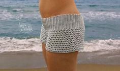 Tutorial Patrón gratis Crochet o Ganchillo Shorts punto V