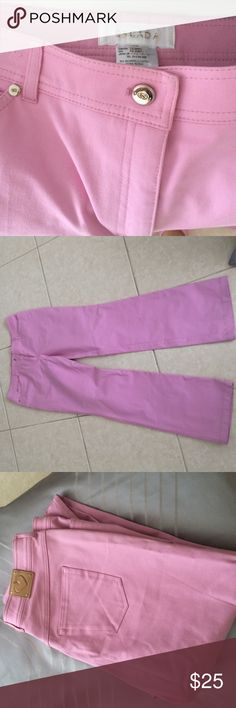 Escada cotton candy pink pants Authentic $495 escada pants. Size 46. Large. 96% cotton 4% elastane. We're for my mom but turned out too big. Escada Pants Trousers