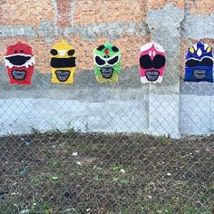 And this Power Ranger fence, also in New York City. | 29 Times Yarn Graffiti Made The World A Better Place