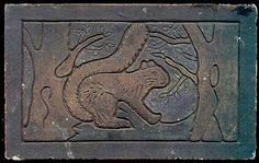 Stark Brick Tile With a Squirrel, c1920