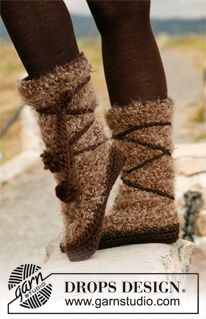 Knitted ugg style boots