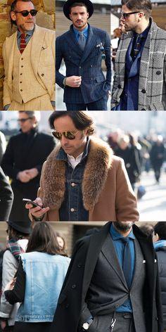 Pitti Uomo Street Style - Smart Denim Shirts and Denim Jacket Layering