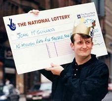 odds of winning the lottery uk
