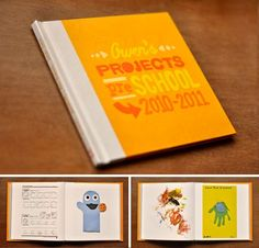 Such a sweet idea! Scan projects and artwork, create a photobook at the end of the school year.