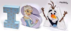 Letras 3D - tema Frozen.