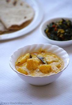 Aloo Ka Rassawala Shaak Recipe - Rajasthani Style Potato Yogurt Curry - Rajasthani Recipes | Indian Cuisine