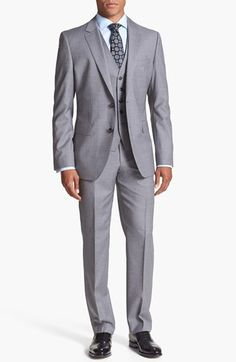 BOSS HUGO BOSS 'James/Sharp' Trim Fit Three Piece Suit available at #Nordstrom