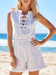 SHARE & Get it FREE | Sleeveless Lace-Up PlaysuitFor Fashion Lovers only:80,000+ Items • New Arrivals Daily Join Zaful: Get YOUR $50 NOW!