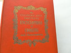 Vintage Culinary Arts Institute Encyclopedia of Cooking and Homemaking. $140.00, via Etsy.