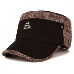 Stylish Triangle Rubber Label Embellished Color Block Military Hat For Men #CLICK! #clothing, #shoes, #jewelry, #women, #men, #hats, #watches