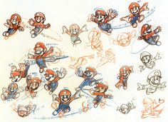 Concept art for Super Mario Galaxy.