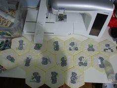 Teddy Bear winter mail machine embroidery design