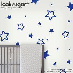 Stars Children Wall Decals  Kids Wall decals Children door looksugar, $20.00