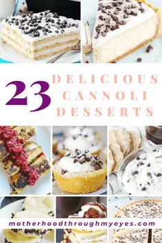 From cannoli brownies to cannoli egg rolls, cannoli desserts are a great way to entertain family and friends. They're always a hit!  Discover these 23 cannoli treats recipes that are sure to impress!