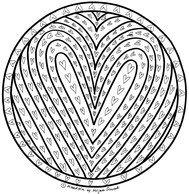Mandala Herzen Zum Ausdrucken Und Ausmalen Ausmalbild Vorlage 1