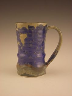 Small Mug With Blue Crystalline Glaze by firebugpotter on Etsy
