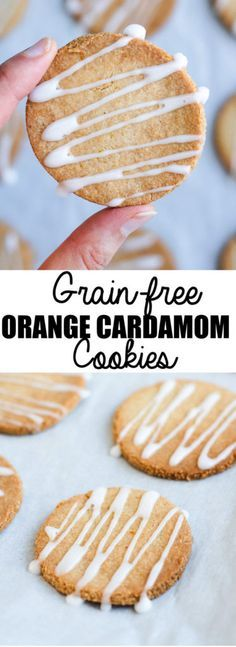 These grain-free orange cardamom cookies are a healthy treat that also happen to be vegan and gluten-free!