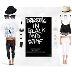 """""""Dress in black and white"""" by dianagustina on Polyvore"""