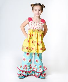 Look at this Yellow Darling Lily Tunic & Pants - Infant, Toddler & Girls on #zulily today!
