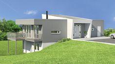 Image result for bolig til skrå tomt inngang og garasje oppe