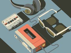 Tape Deck by Folio Illustration Agency