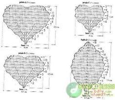 Big Crochet Roses + Diagrams