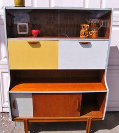 Cool retro, vintage, up-cycled teak cabinet  £60.00