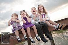 4 kids on dock