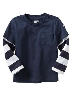 2-in-1 stripe tee Product Image