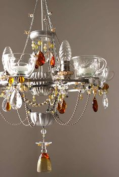 Madeleine boulesteix started making chandeliers after finding about glassware recycled into chandelier aloadofball Images