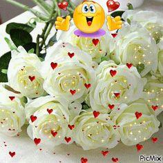 State of Love : Photo Happy Birthday Celebration, Birthday Greetings, Birthday Wishes, Flowery Wallpaper, Rose Wallpaper, Beautiful Red Roses, Beautiful Gif, Love You Gif, Emoji Love