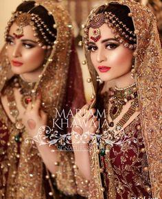 Throw back to bridal photo shoot Latest Bridal Dresses, Bridal Mehndi Dresses, Bridal Outfits, Pakistani Bridal Makeup, Pakistani Wedding Outfits, Pakistani Dresses, Wedding Lehenga Designs, Pakistan Bridal, Bridal Photoshoot