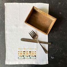 Vintage Yellow Floral Embroidered Kitchen Linen 18x12 – In The Vintage Kitchen Shop Kitchen Linens, Vintage Yellow, Vintage Kitchen, Flower Outline, Kitchen Shop, Instagram Worthy, Dinner Napkins, Cutwork, Vintage Italian