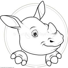 Cute Baby Hippo Coloring Pages