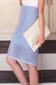 This stretched pencil skirt is crafted from sheer mesh, partially lined, 3 colors Deep Sky Blue, White Ivory and Black, wear with crop top and point toe pumps