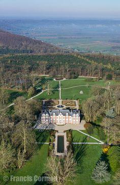 France, Normandie, Eure (27), Saint-Thurien, château (vue aérienne) // France, Normandy, Eure, Saint Thurien, castle (aerial view)