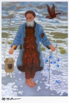 "Arik Brauer ""Winterreise"" Anton, Rudolf Hausner, Vienna School Of Fantastic Realism, Dreams And Visions, Austria, Surrealism, Fine Art, Illustration, Fashion"