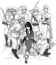 Drifters #Anime #Manga Nasu Suketaka Yoichi and the elves