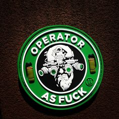 Operator As F#@& PVC morale patch (coffee) from Zombie Tactical Cord