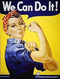 During WWII virtually all able bodied men were in the military, leaving factories making planes, weapons, amunition without employees. Brave women jumped right in to help supply the war effort.