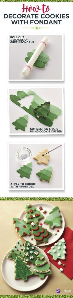 How to decorate cookies with fondant