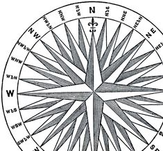 This is a wonderful Vintage Compass Rose Image! This offering was scanned from a Circa 1879 Science book filled with all sorts of interesting illustrations of Inventions!